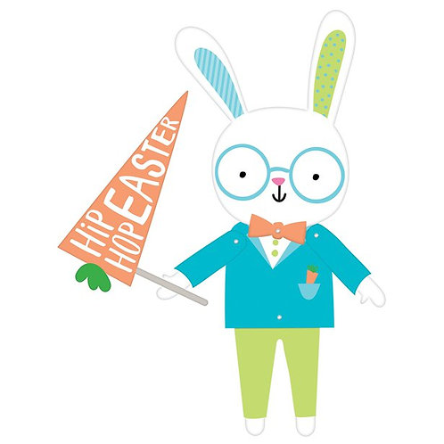 Bunny Jointed Card Cutout