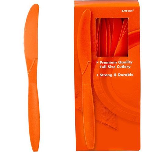 Orange Plastic Knives
