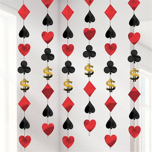 Casino Party Night Hanging String Decorations