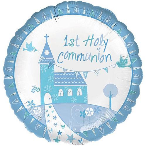 First Holy Communion Foil Balloons Blue