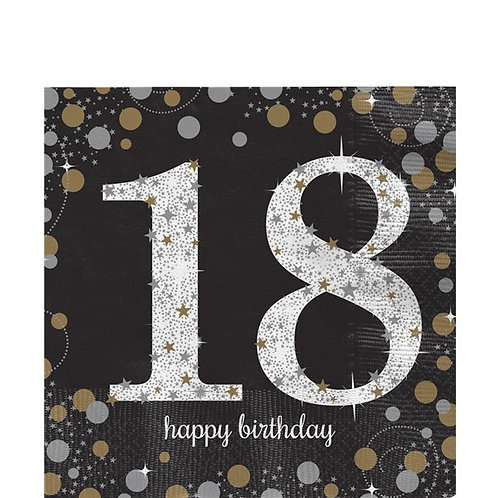 18th Birthday Party Napkins