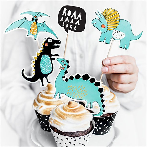 Dinosaur Party Cake Toppers