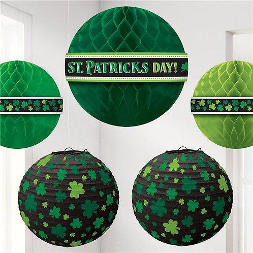 St Patricks Day Honeycomb & Lantern Pack