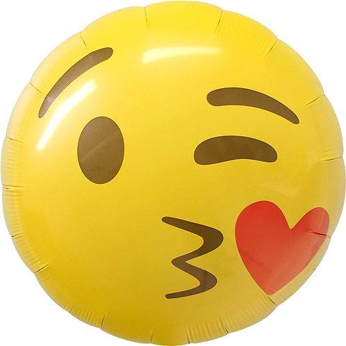 Emoji Kissing Heart Foil Balloon