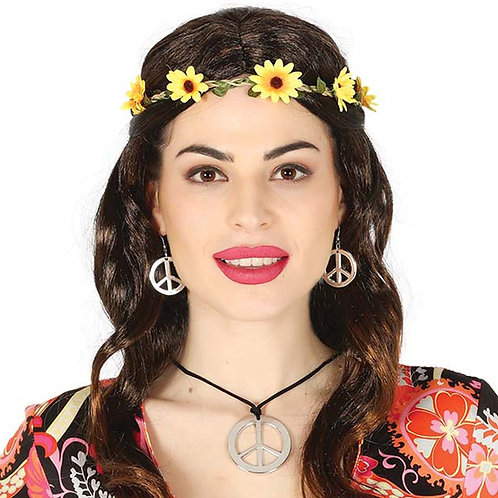Hippie Peace Necklace & Earrings