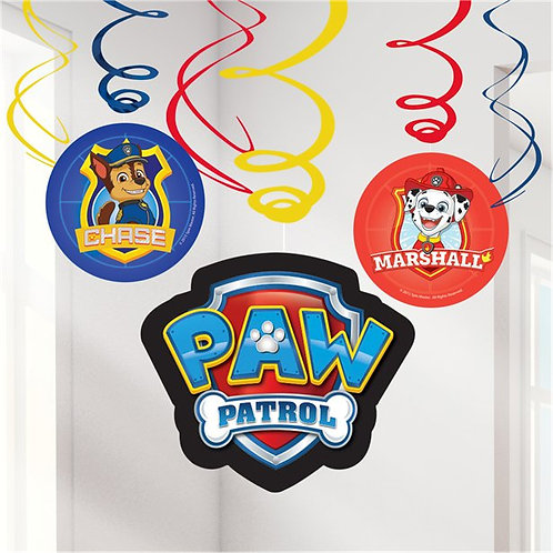 Paw Patrol Swirl Decorations