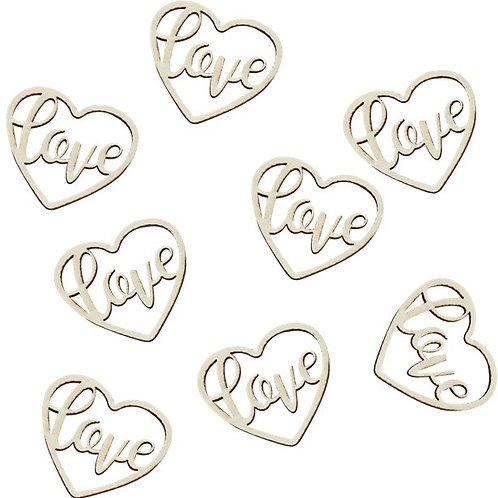 Wooden Heart Love Confetti