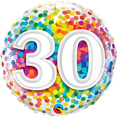30th Birthday Confetti Foil Balloon