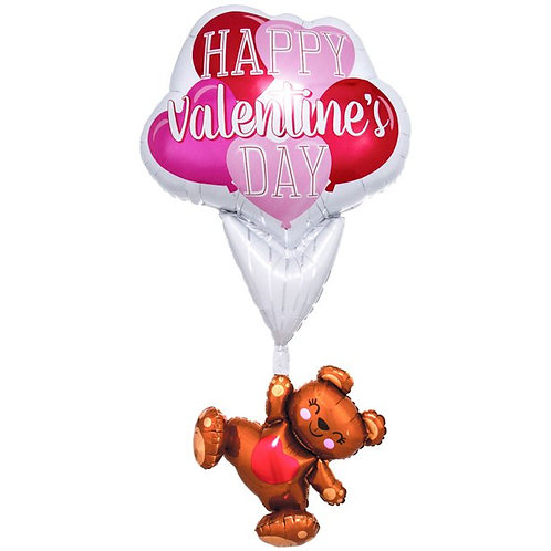 Valentine's Day Floating Bear Balloon