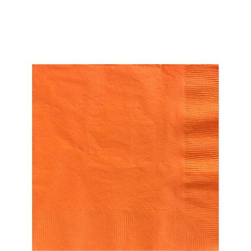Orange Paper Napkins Size 25cm
