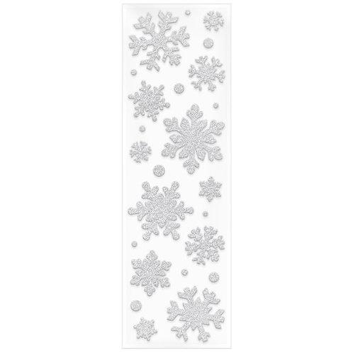 Snowflake Glitter Gel Cling