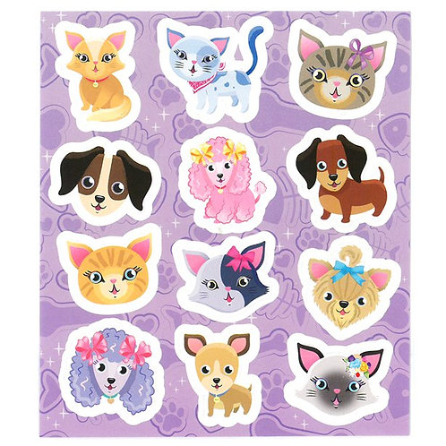 Cats & Dogs Party Stickers