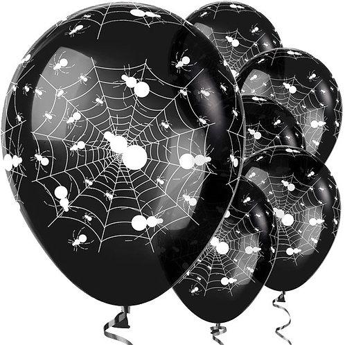 Halloween Black Spider Web Balloons