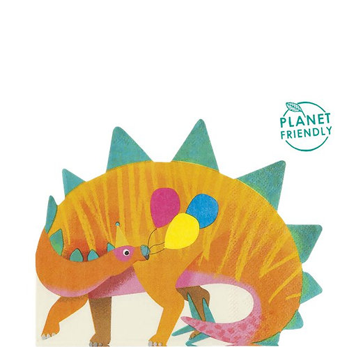 Dinosaurs Little Party Shaped Napkins