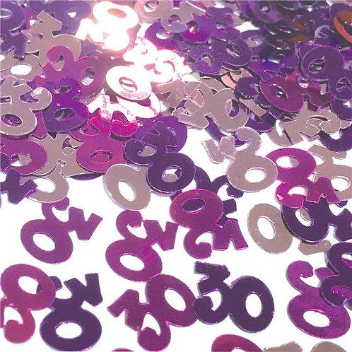 30th Birthday Pink Table Confetti