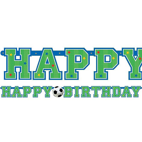 Happy Birthday Football Party Letter Banner