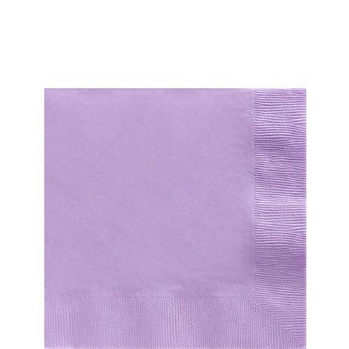 Lilac Paper Napkins Size 25cm