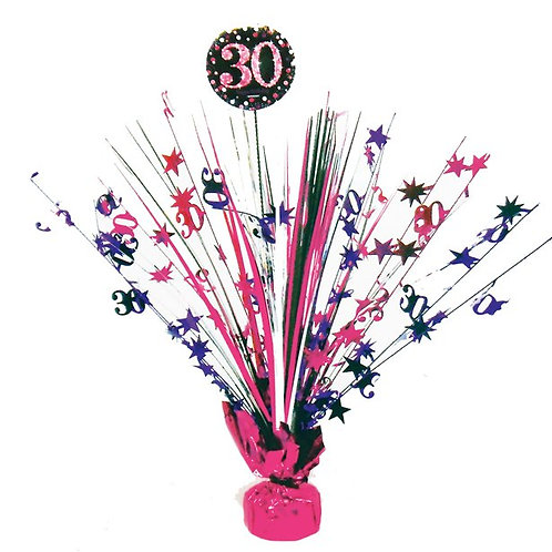 30th Birthday Foil Pink Table Spray Centrepiece