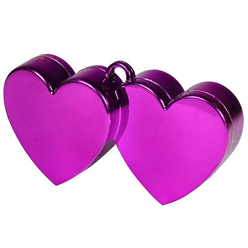 Magenta Double Heart Balloon Weight