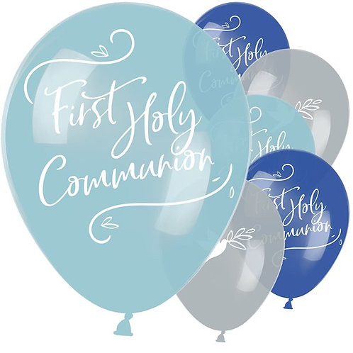 First Holy Communion Blue Mix Balloons