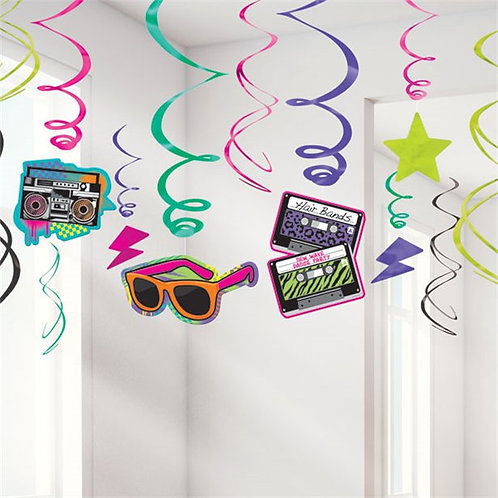 1980's Hanging Swirls Decorations