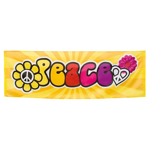 Hippie Peace Giant Banner