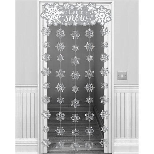 Let It Snow Door Curtain