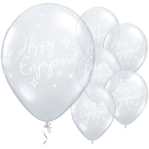Engagement Party Balloons Diamond Clear