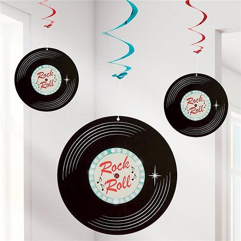 1950s Classic Rock n Roll Hanging Swirls