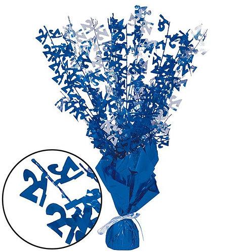 21st Blue Foil Table Centrepiece Decoration