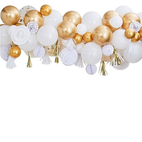 Gold Mix Balloon Garland Decorating Kit