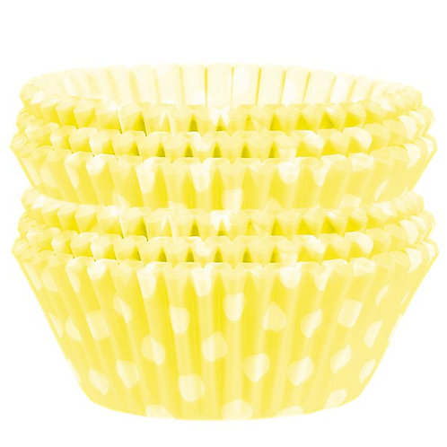Yellow Spot Cupcake Cases