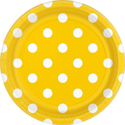 Yellow Polka Dot Plates