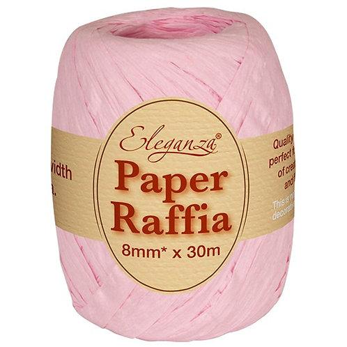 Pastel Pink Paper Raffia