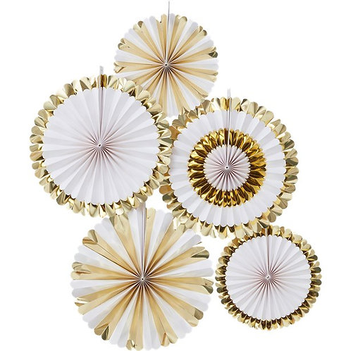 Gold Foiled Fan Decorations