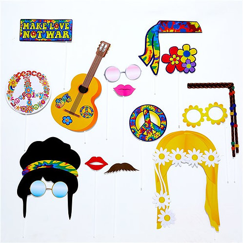 1960's Photo Booth Party Prop Accessories.
