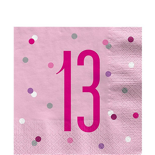 13th Birthday Pink Napkins