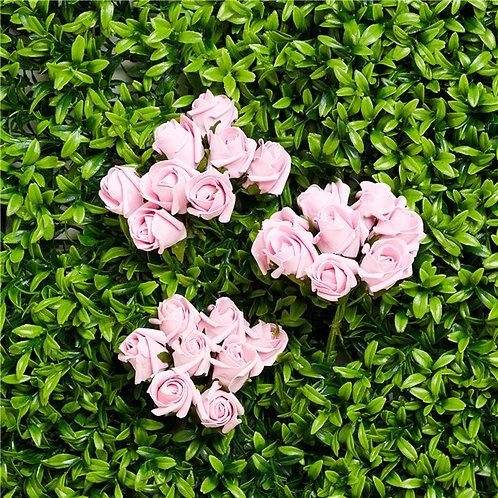 Mini Pastel Pink Rose Bud Bunch Decorations