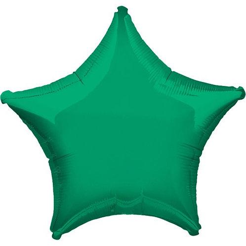 "Star Foil Balloons Size 19"" Green"