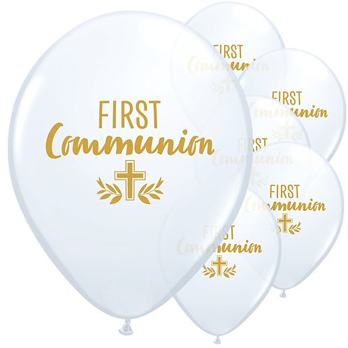 First Communion White Balloons