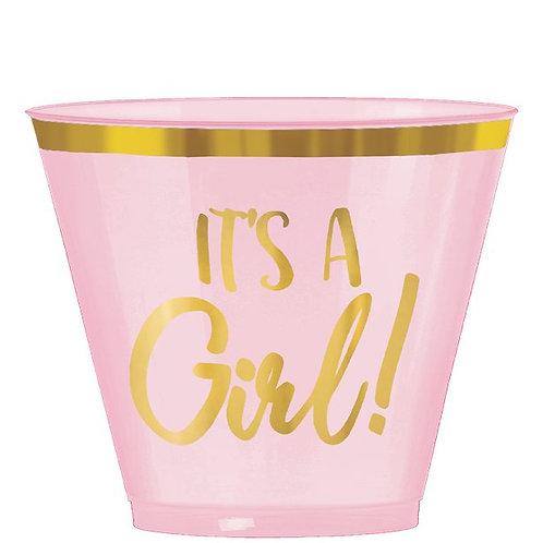It's a Girl Pink Plastic Tumblers