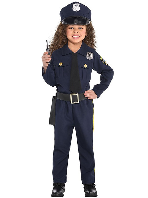 Police Officer Costume 4-6 Year Old
