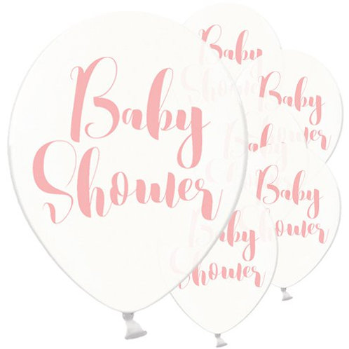 Clear Pink Baby Latex Balloons