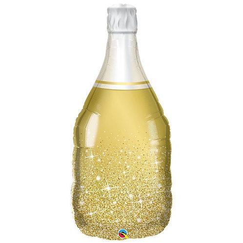 Gold Wine Bottle Foil Balloon