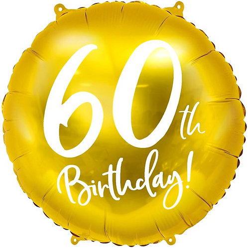 60th Birthday Gold Foil Party Balloon