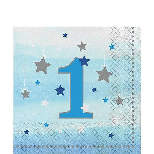 One Little Star Blue Paper Napkins