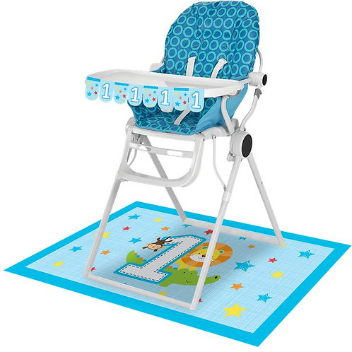 1st Birthday High Chair Decorating Kit Blue