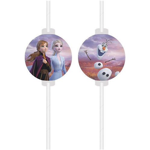 Disney Frozen 2 Paper Drinking Straws
