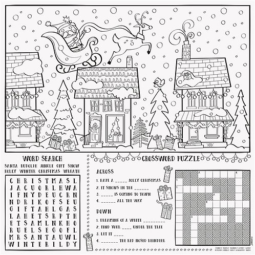 Christmas Fun Colouring Placemats