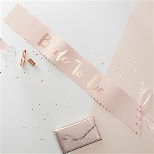 Bride to Be Foiled Paper Sash